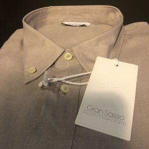 Gran Sasso Wool Button Up